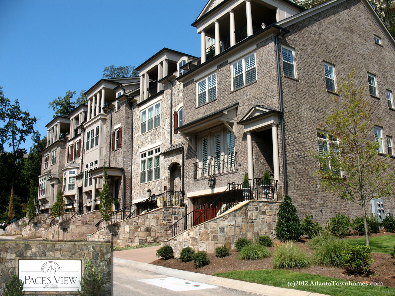 paces view townhomes in vinings
